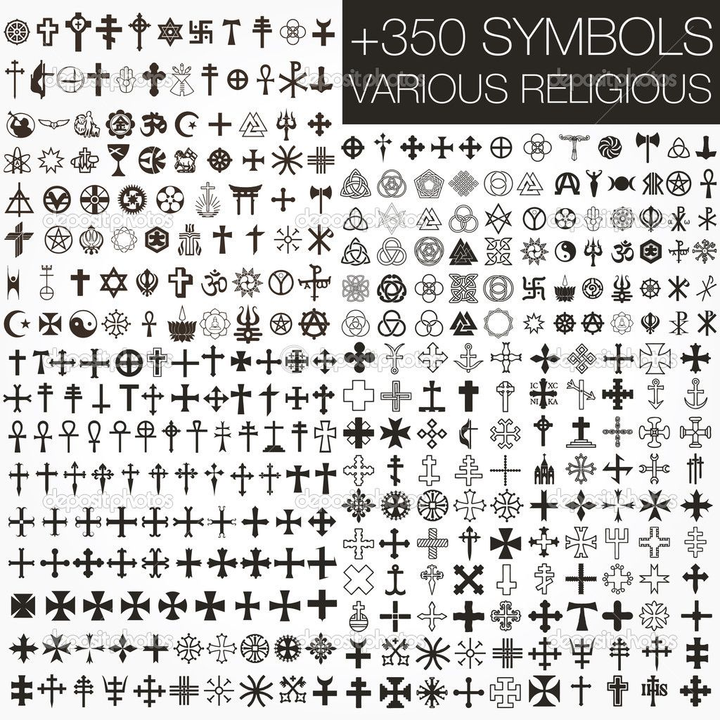 Symbolscom Vector Various Religious Symbols Stock Photo - Various religions in the world