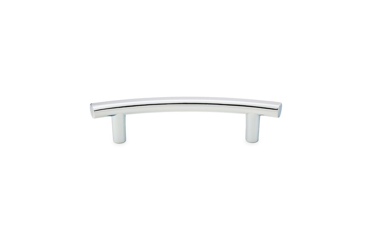 Emtek 86418 6 Inch Center to Center T-Curve Series Cabinet Bar Pull from the Cur Polished Chrome Cabinet Hardware Pulls Bar