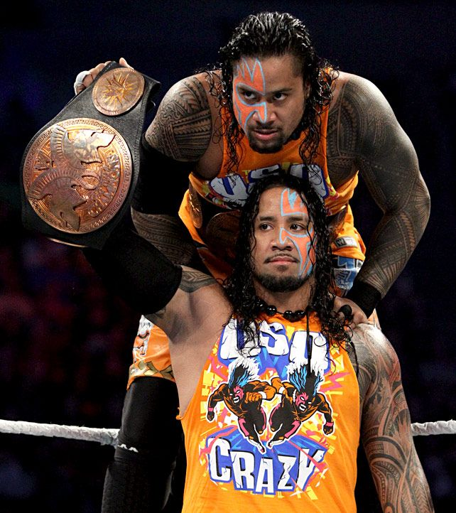 Jimmy and Jey Uso | Wrestling superstars, Wwe wrestlers