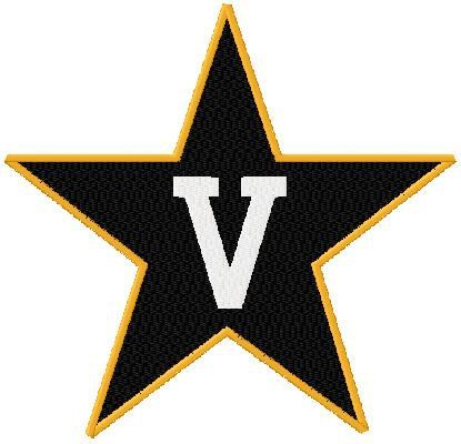 Shoply.com -Vanderbilt University Logo Machine Embroidery Design in 5 Sizes. Only $3.99