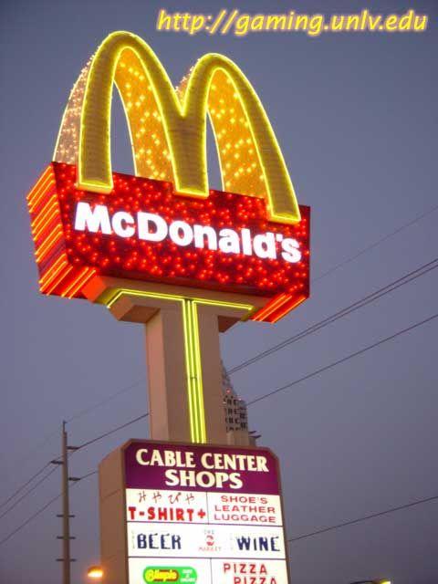 Even McD's is neon in Vegas