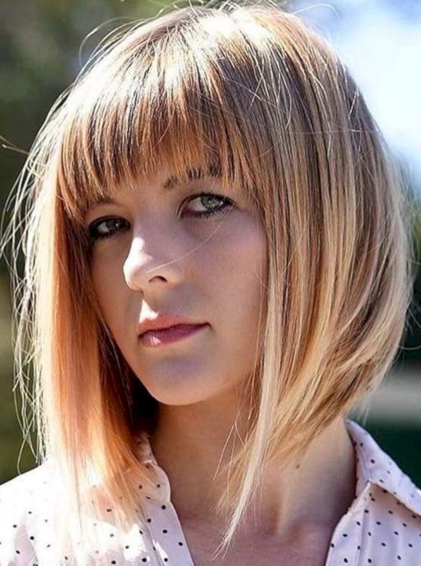 modern medium hairstyles with bangs for a new look in hair