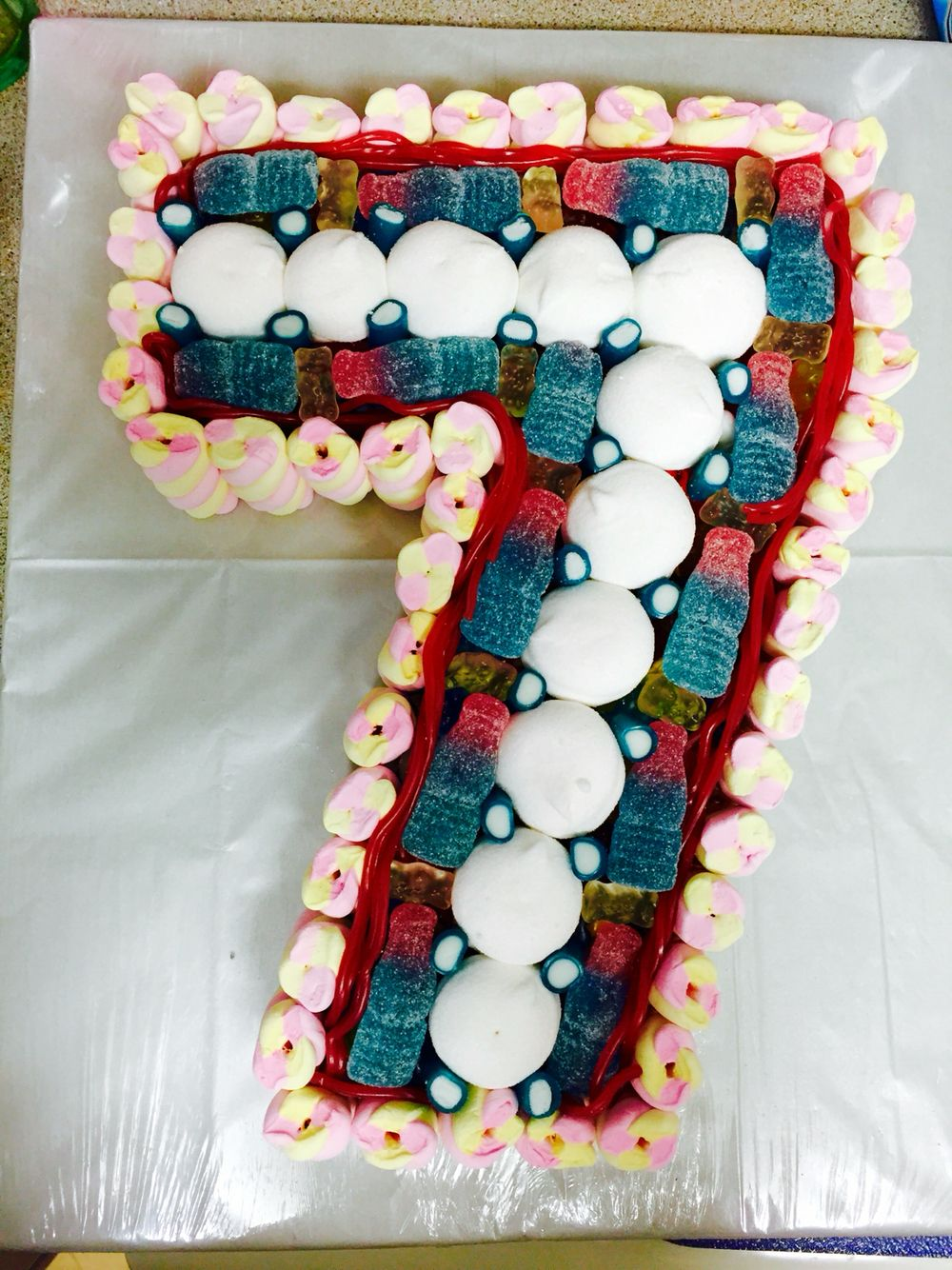 Number 7 Sweetie Cake Perfect For Birthdays Cakes Pinterest