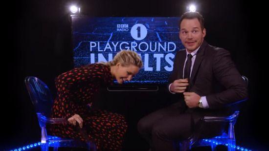 Chriss Pratt And Jennifer Lawrence Trade Schoolyard Insults