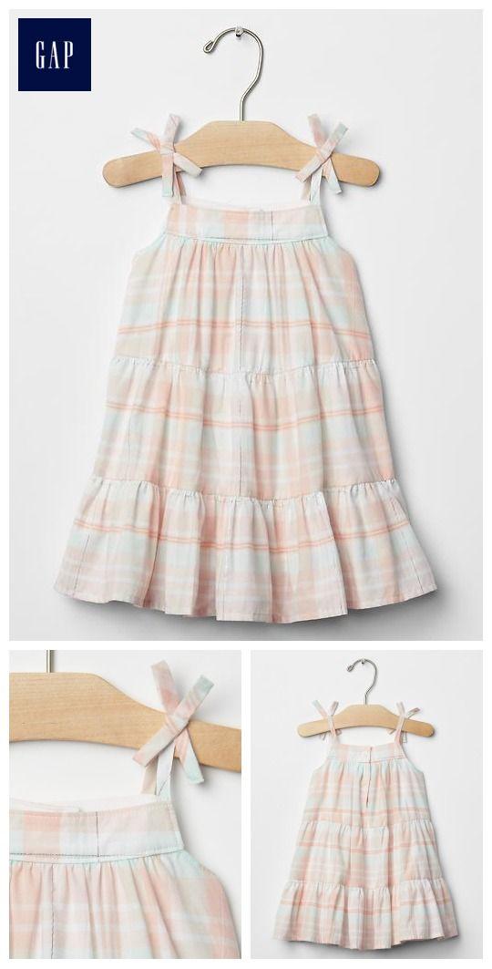 Shimmer stripe bow dress