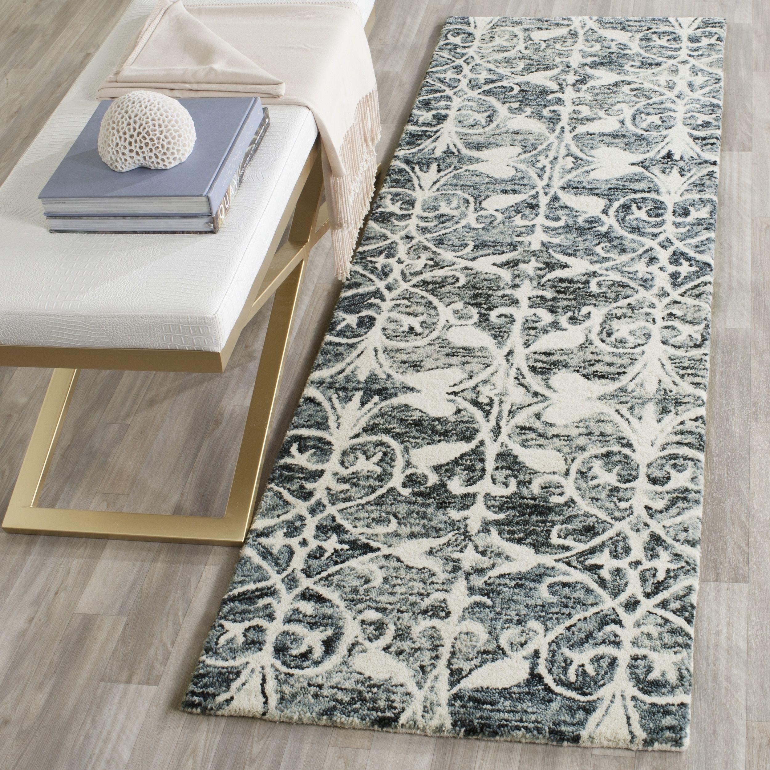 Safavieh handmade chatham charcoal ivory wool rug u x