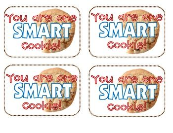photograph relating to Smart Cookie Printable identified as Just one Sensible Cookie! Motivational Printable FifthGradeFlock
