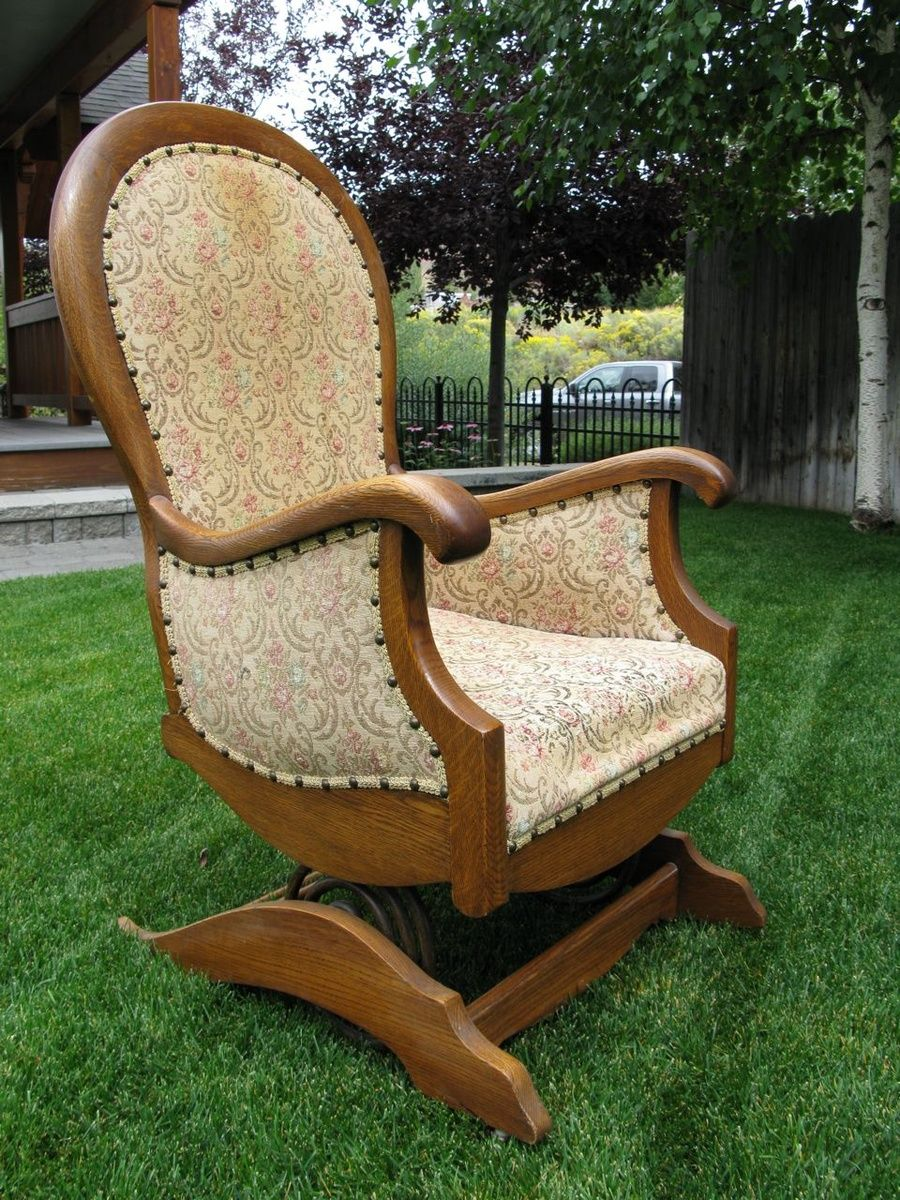 Antique Platform Rocking Chair With Springs Grey Wingback Or Spring | Collectors Weekly Antiques Pinterest Chairs ...