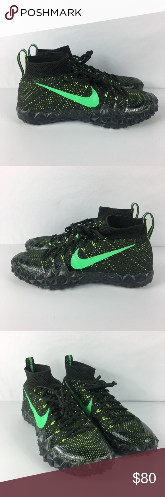 cheaper 9d2d4 f1daa Nike Alpha Sensory Turf Football Cleats Green Nike Alpha Sensory Turf  Football Cleats Sequoia Green 854312
