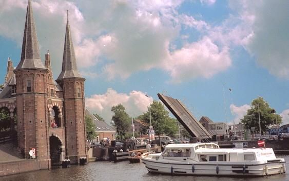The canals and bridges of Leeuwarden are popular among tourists to the region because of their beauty and design.