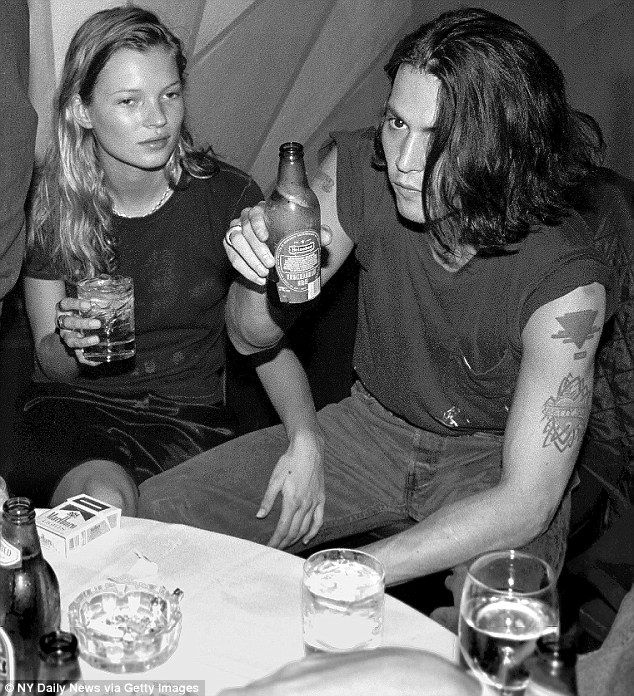 Kate Moss And Johnny Depp At The Viper Room