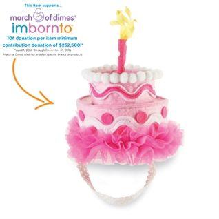 ccac626b9de Mud Pie Baby-girls Newborn Birthday Cake Headband