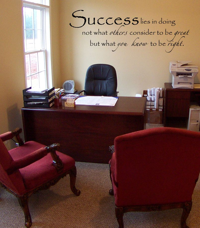 success meaning wall decal in 2020 office ideas for work on wall stickers design id=46866