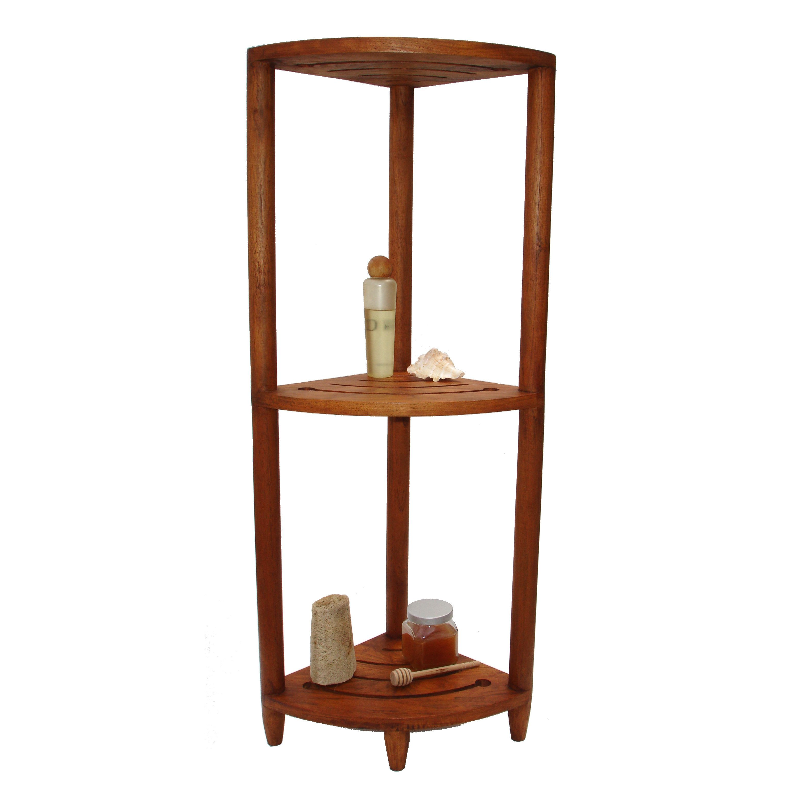 Aqua Teak Spa Teak Corner Shower Caddy | Bathroom | Pinterest ...