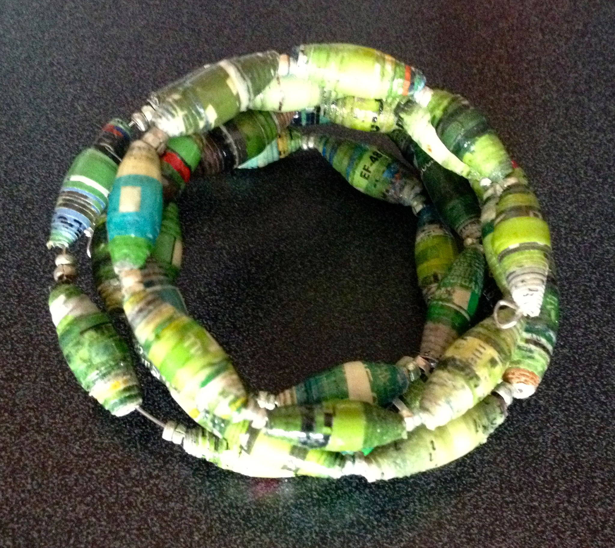 Spiral Paper Bead Bracelets to benefit EHE