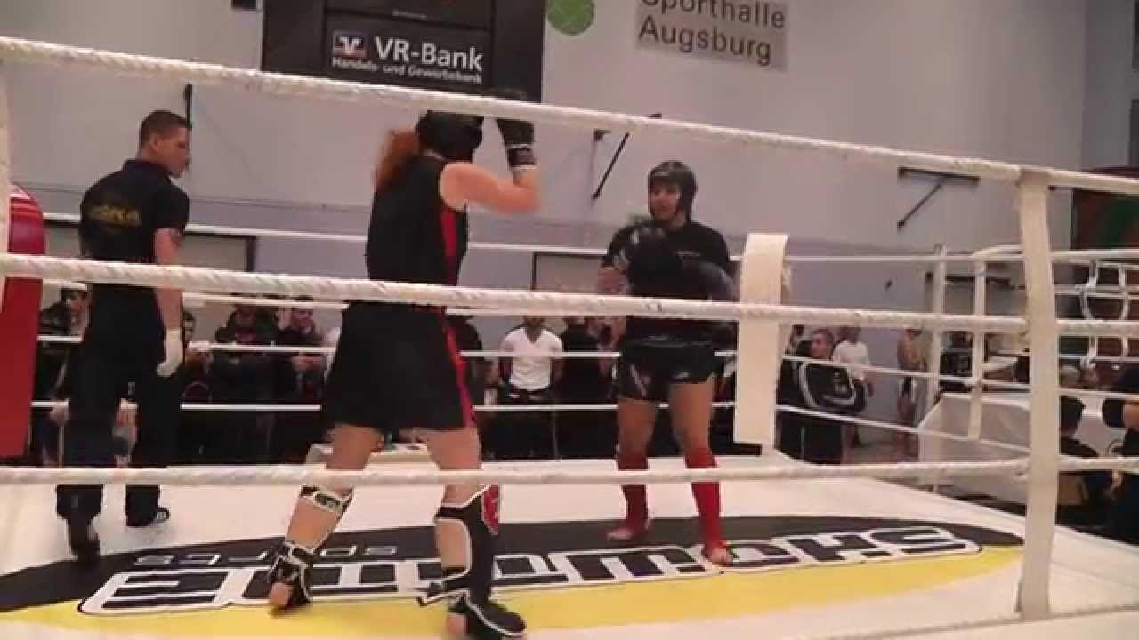 2014-04-12 DM der ISKA Martina Hilsenbeck Finale K1-Sparring Frauen +65K...