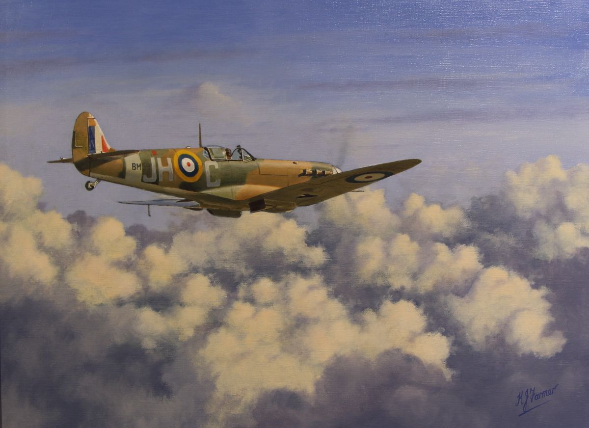 Remembering The Few by Ken Farmer AGAvA Airplane Art, Battle Of Britain,  Aviation Art