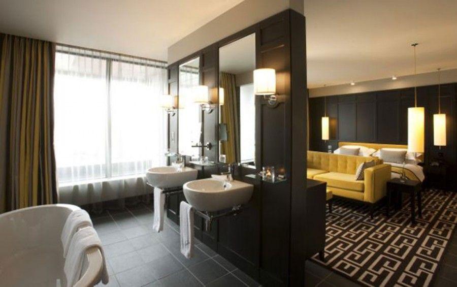 Open Concept Bedroom And Bathroom Ideas Combination Bedroom And Bathroom Design Ideas Master Bedroom Bathroom Open Bathroom Design Ideas Hotel Bedroom Design