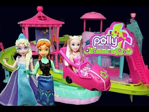Princess Anna Elsa Belle Ariel Magic Clip Dolls Using Color
