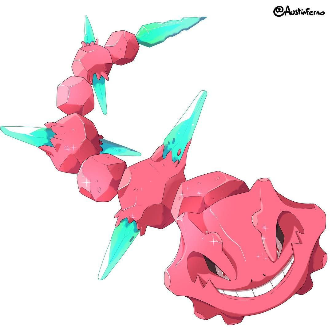 Drew A Ruby Steelix Which Evolves From The Fabled Crystal Onix This Idea Came From Therealttar Let S Play Of Sun And Moon Ho Pokemon Digimon Digital Drawing