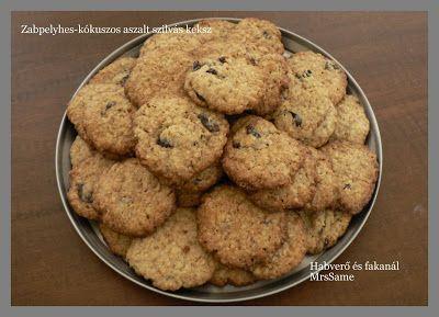 Habverő és fakanál: Zabpelyhes-kókuszos-aszalt szilvás keksz