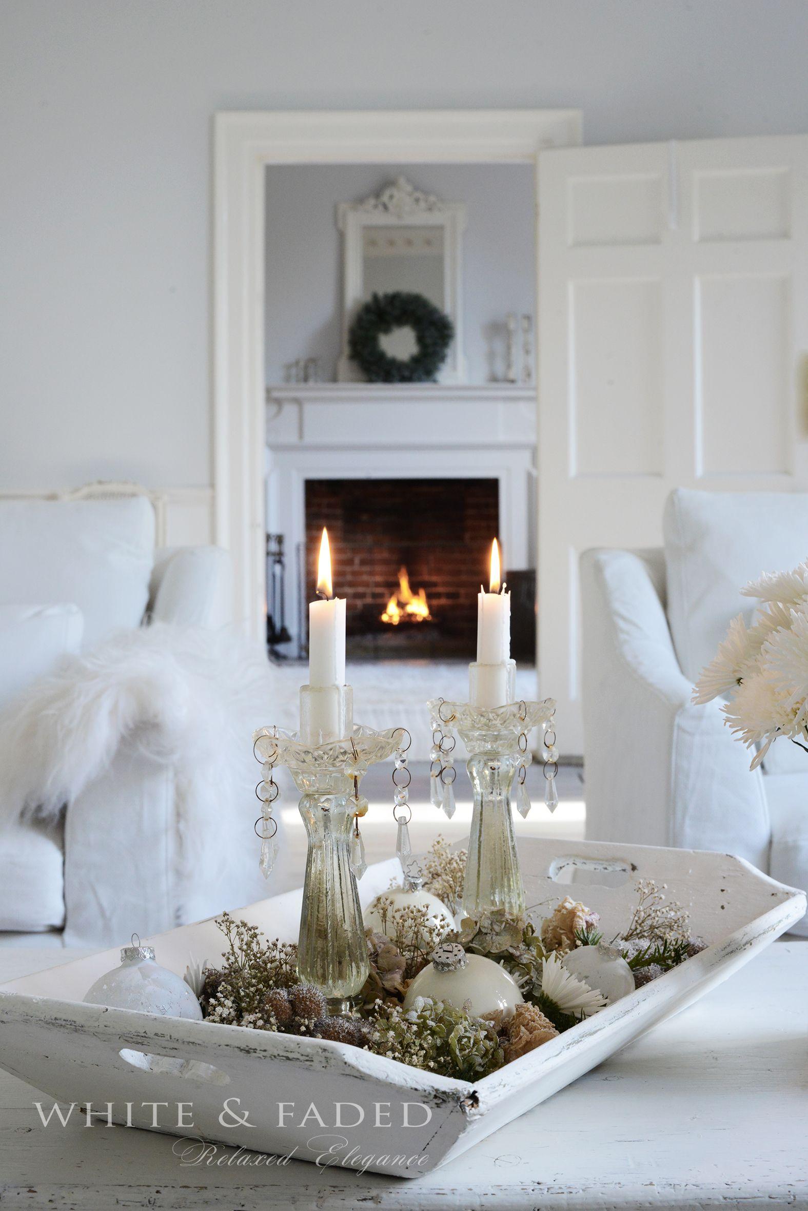 Weihnachtsdeko Shabby Chic.Weihnachtsdeko Ideen Weiss Silber Christmas Decorations White