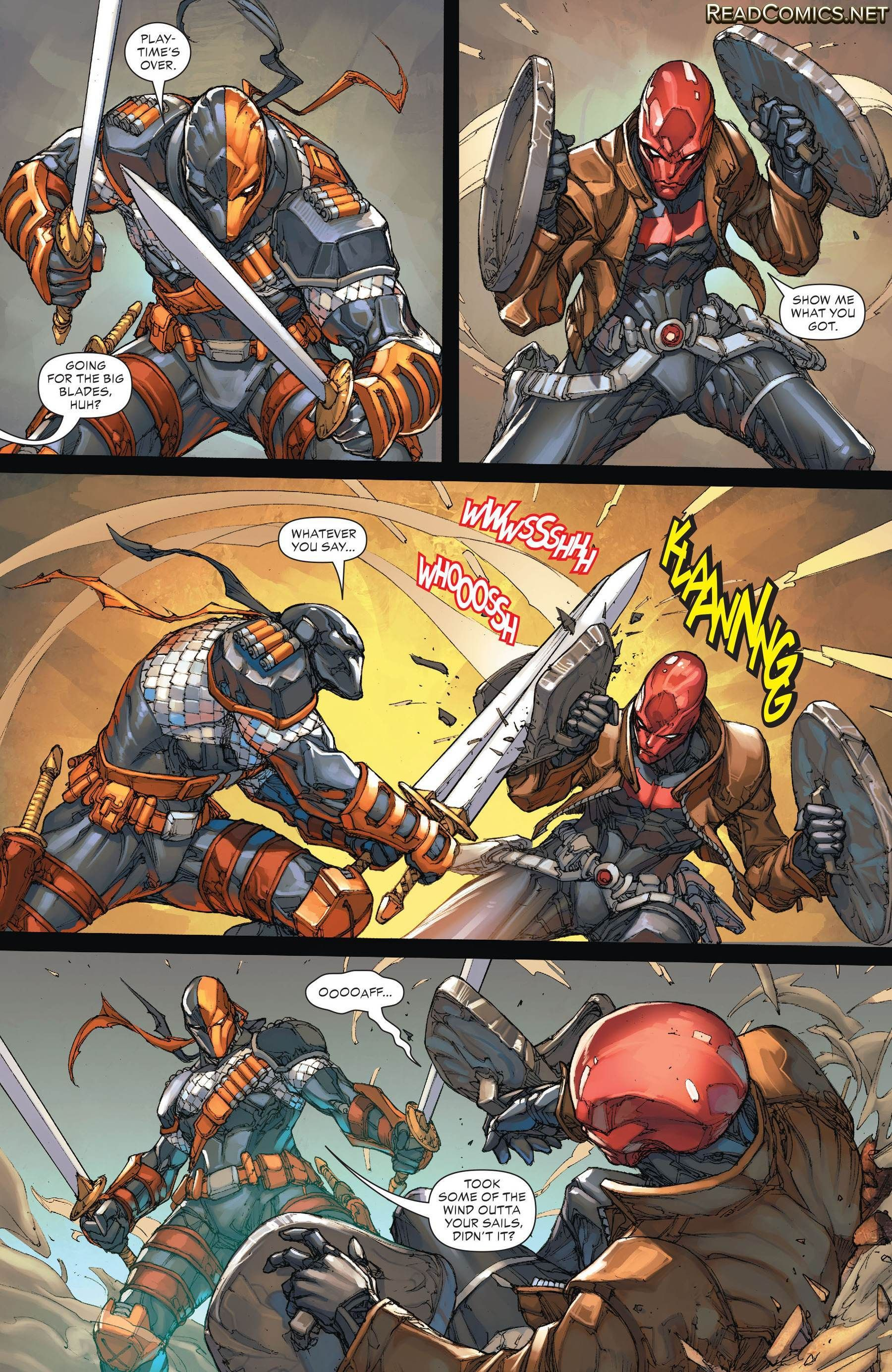 Deathstroke #16 (the New 52) Deathstroke vs Red Hood part 6 - Visit to grab an amazing super hero shirt now on sale!