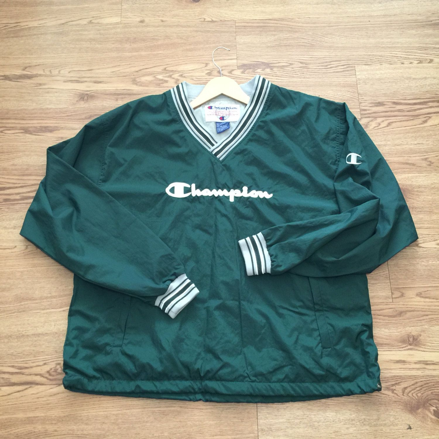 Vintage Champion PullOver Jacket by VNTGvault on Etsy | Vintage ...