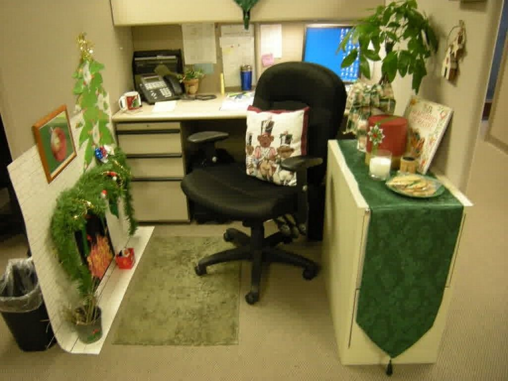 home office cubicle. Chic-Home-Office-Cubicle -Decoration-Christmas-Green-Theme-With-Square-Table-and-Black-Chairs-Furniture-Sets-With-Unique-White-Pendant-Lighting-for- Office- Home Office Cubicle F