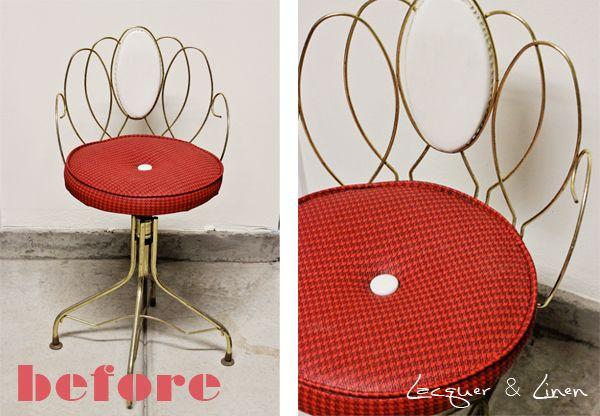 Best Vanity Chair Diy Vanity Chair At That Shiny Vinyl Seat | Home ...