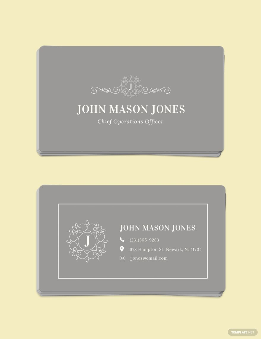 Elegant Business Card Template Word Psd Apple Pages Illustrator Publisher Free Business Card Templates Business Card Template Word Elegant Business Cards