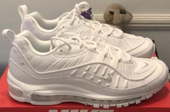 27bc052d1675 First Look  Nike Air Max 98 Triple White