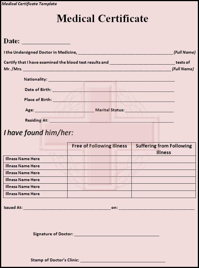 Medical Certificate Template My work Pinterest Certificate - Fake Divorce Decree