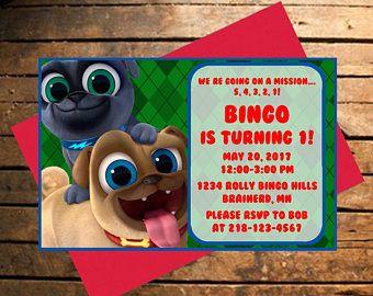 Downloadable Puppy Dog Pals Birthday Invitation Birthday Party