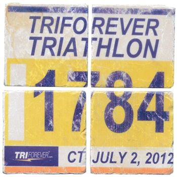 Your Tri Bib on Set of 4 Coasters BibCOASTERS