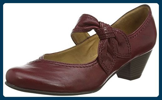 Gabor Shoes 05.457 Damen Pumps, Rot (Dark Red Leather), 41