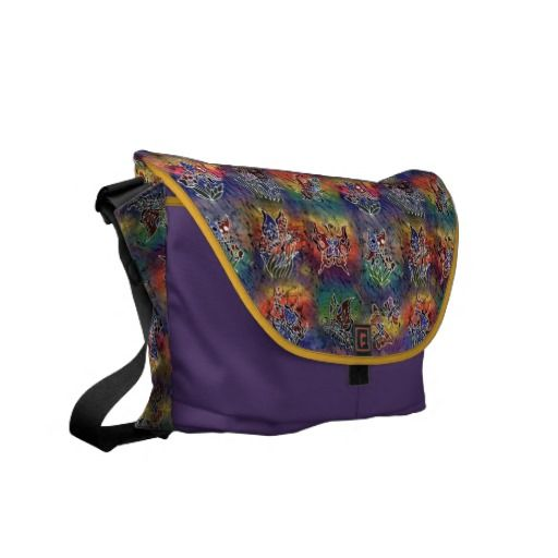 Colorful butterflies courier bags