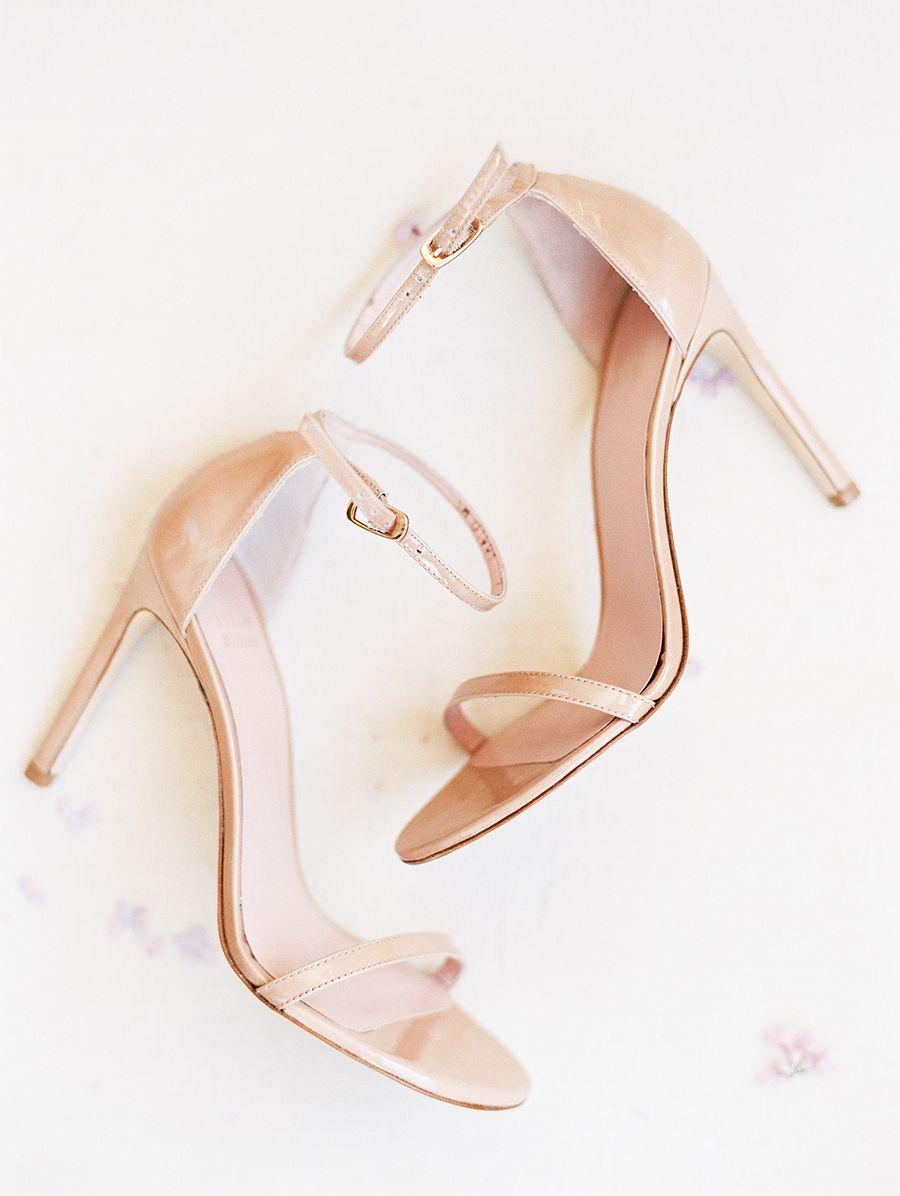 An Oceanside Wedding Planned In 4 Months Flat Wedding Guest Shoes Gold Heels Wedding Fashion High Heels