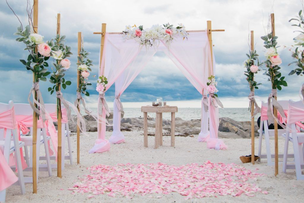 Romantic Beach Wedding Venue Pink Themed Packages