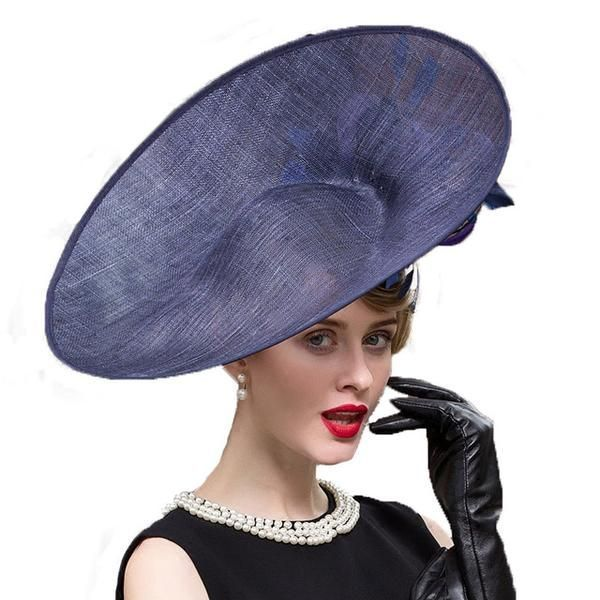 074122ea471d1 Royal Statement Fascinator  fascinator  royalwedding  sinamay  navy Ladies  Wedding Hats
