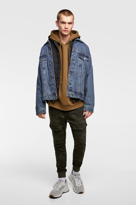 Εικόνα 1 του ΝΤΕΝΙΜ SOFT ΚΑΜΟΥΦΛΑΖ από Zara Bomber jacket