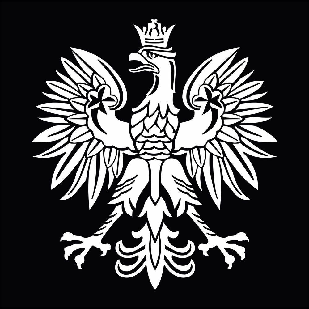 White Polish Eagle Symbol Emblem Coat Of Arms Orze Godo Vinyl