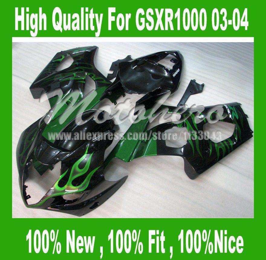 For K3 Suzuki Gsx R1000 2003 2004 Gsxr 1000 Gsx R1000 03 04 Gsxr1000 K3 03 04 Green Black Full Fairing Suzuki Gsxr1000 Gsxr 1000 Suzuki Gsxr
