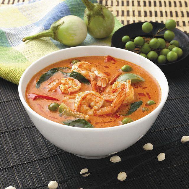 Recette Soupe aux crevettes et au curry