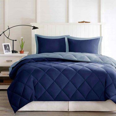Larkspur Microfiber Reversible Down Alternative Comforter Set - JCPenney