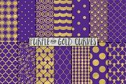 Royal Purple And Gold Backgrounds Patterns On Creative Market
