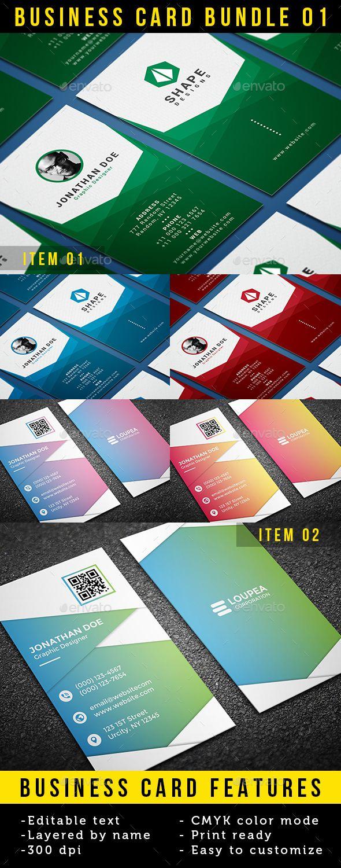 Business Card Bundle 01 - Business Cards Print Templates Download ...