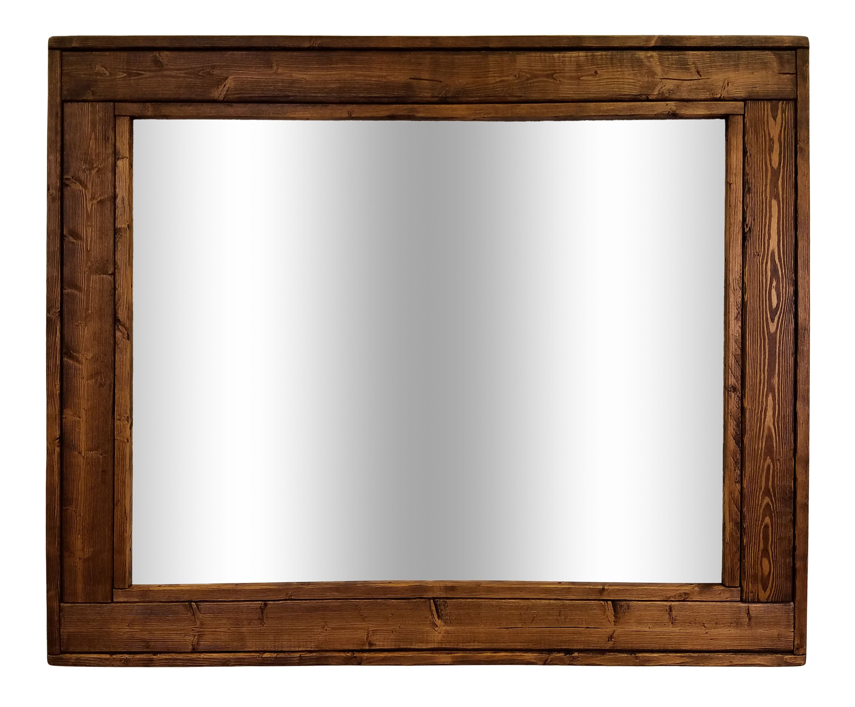 Large Framed Herringbone Reclaimed Wood Mirror Double Vanity Decorative Mirror Rustic Shown In Special Walnut 20 Colors 4 Sizes Wood Framed Mirror Wood Mirror Reclaimed Wood Mirror