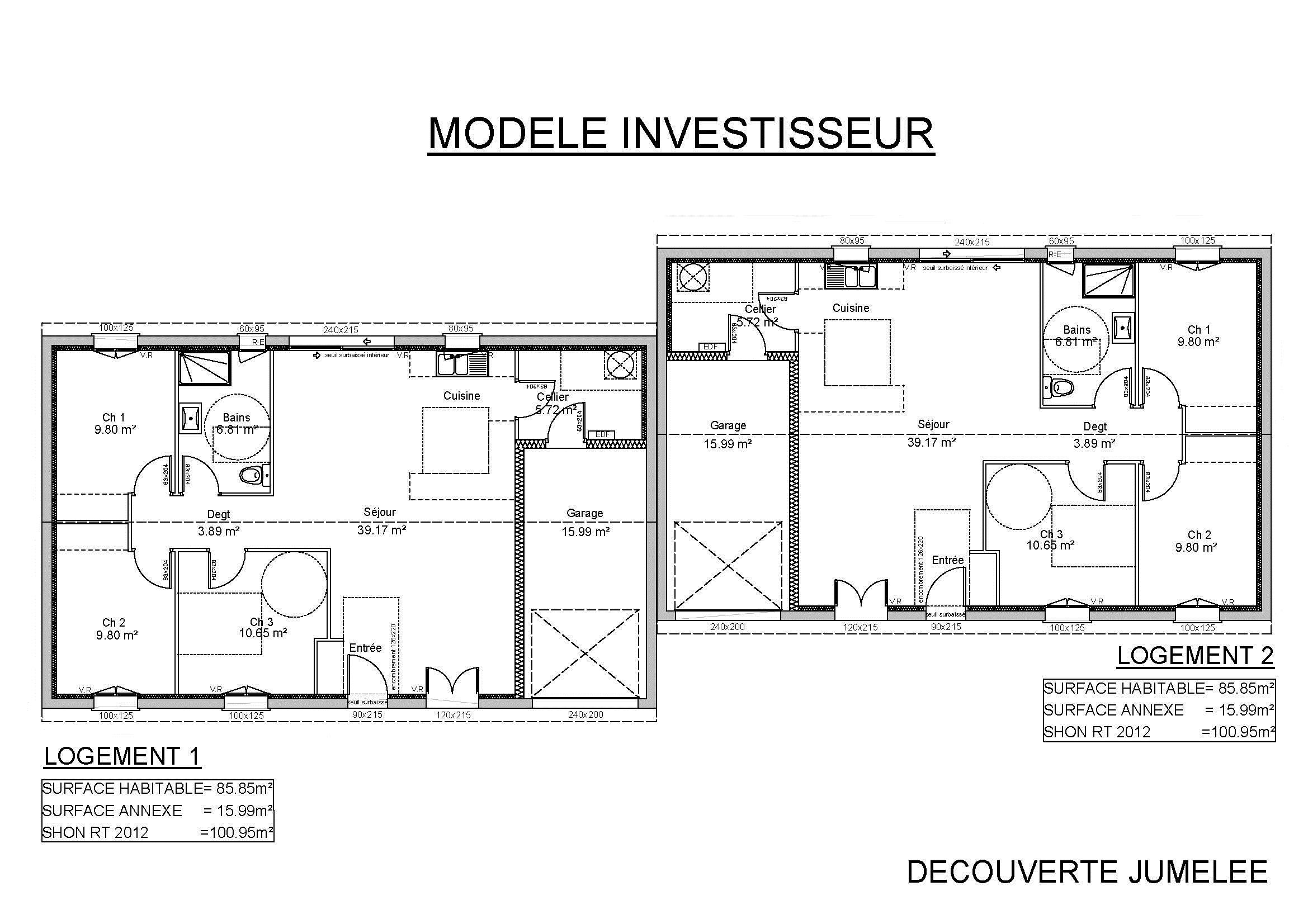 Modele Urbis Plan Maison Mitoyenne A Etage
