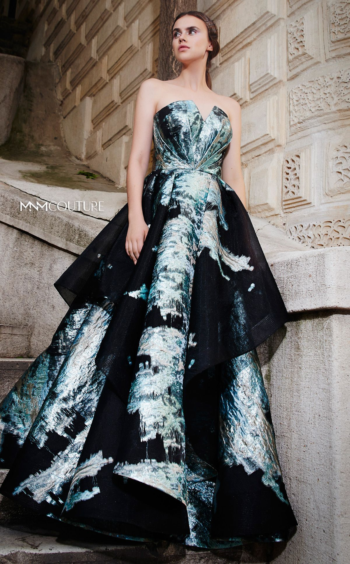Top Marbled Prom Dress Strapless Dress Outfit Dresses Prom Outfits [ 1930 x 1200 Pixel ]